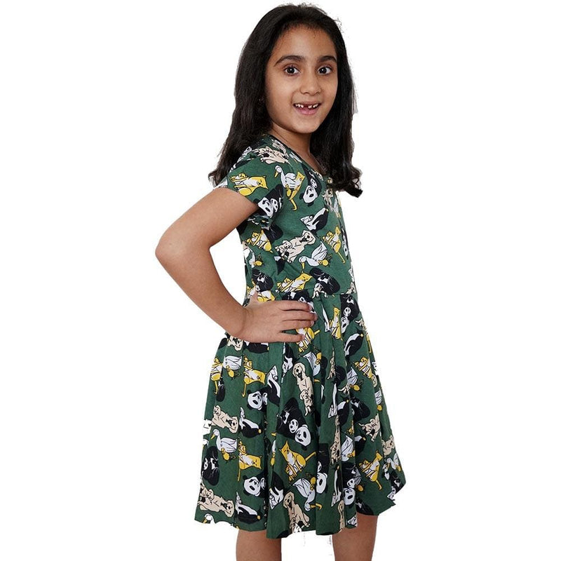 Girls Summer Dress with Pockets, Zoo Girls Dress, Zoology Girls Dress, Animals Girls Dress with Pockets, Baby Animals Girls Dress, Girls Summer Dress, STEM Girls Dress, Science Girls Dress with Pockets, Mommy & Me Kids Twirl Dress with Pockets - SVAHA USA