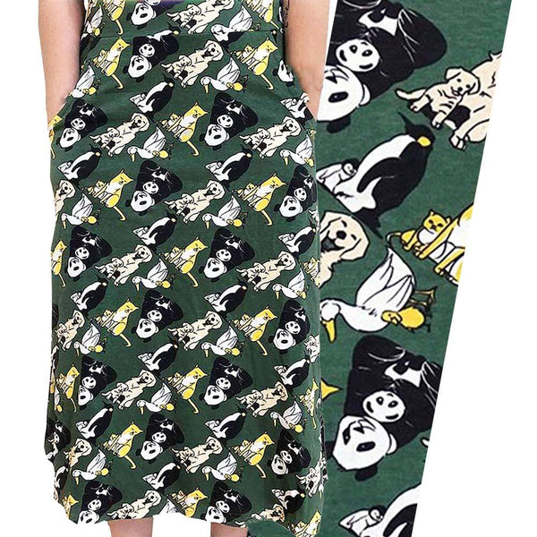 Animal Maternal Warmth A-Line Midi Skirt [FINAL SALE]