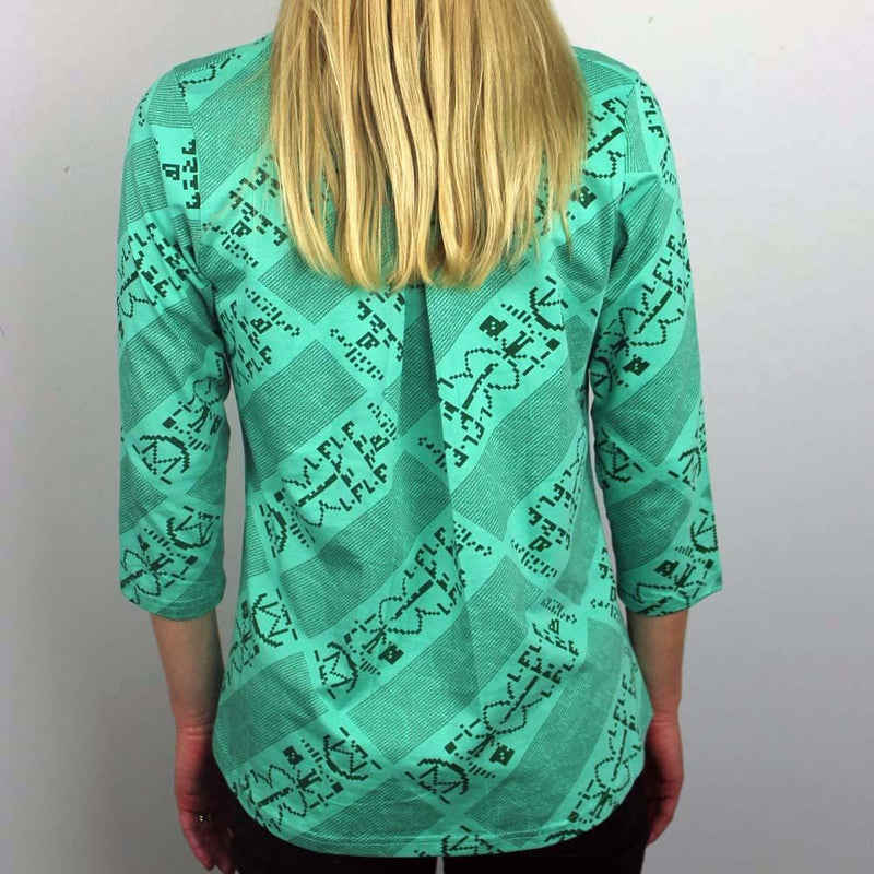 Arecibo Message Blouse - BACK - Svaha USA
