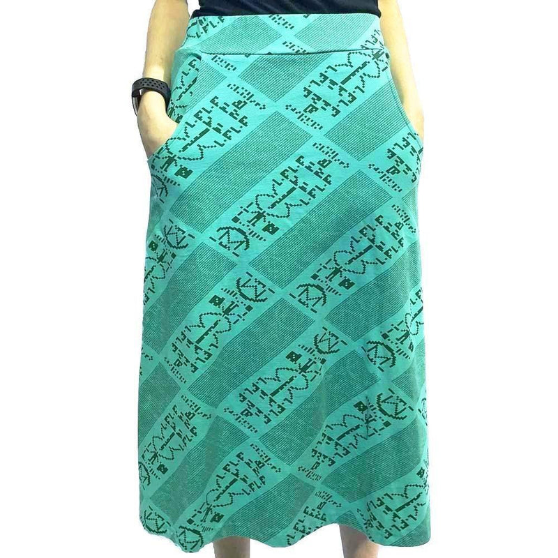 Arecibo Message Skirt, Astronomy Skirt, SETI Skirt, Science Skirt, Space Skirt, Technology Skirt, Outerspace Skirt, Space Skirt, Astronomer Skirt with Pockets - Svaha USA