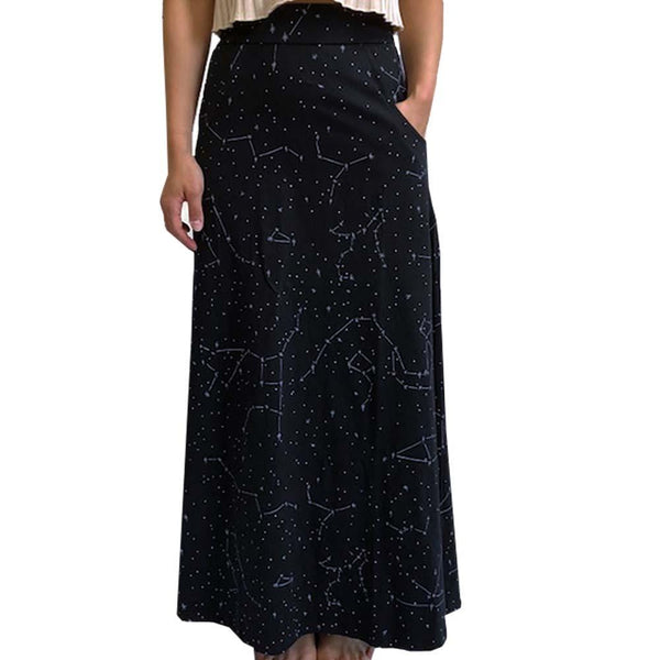 Constellations Skirt, Glow-in-the-Dark Skirt, Stars Skirt, Astronomy Skirt, STEM Skirt, Science, Outerspace Skirt, Space Skirt, Astronomer Skirt, Solar System Skirt, Galaxy Skirt, Star Map Skirt with Pockets - SVAHA USA