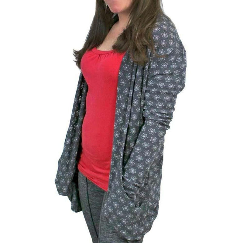 Science Cardigan, STEM Cardigan, Chemistry Cardigan, Atomic Cardigan, Electrons Cardigan, Nucleus and Planetary Model of the Atom Cardigan, Physics Cardigan, STEM Cardigan, Chemistry Women's Cardigan with Pockets - SVAHA USA