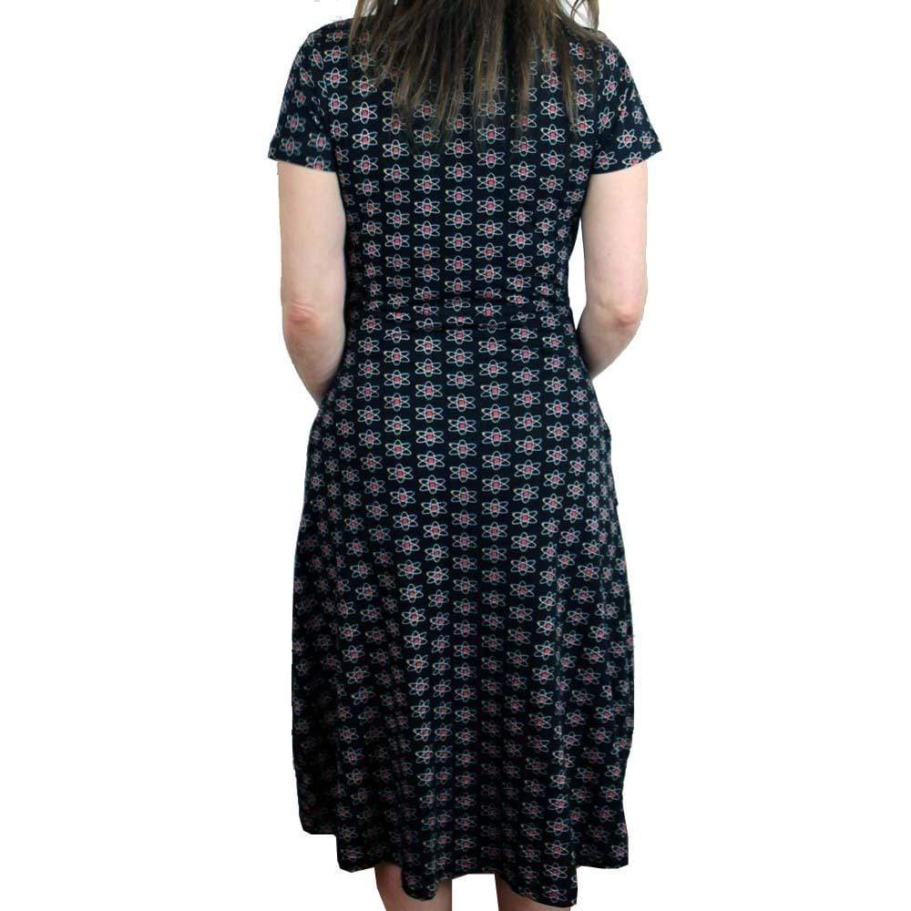 Rutherford-Bohr Model Atom Faux Wrap Grace Dress