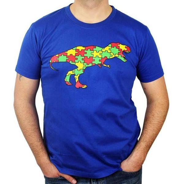 Fundrasier Shirt, Autism Awareness Shirt, Dinosaur Mens Shirt, Dinosaur Shirt, Science Shirt, ASD Shirt, Autisum Spectrum Mens Shirt, Fundrasier Shirt, Autism Puzzle Piece Shirt, Pyschology Mens Shirt, Dinosaur Puzzle Fundrasier Piece Unisex T-Shirt - SVAHA USA