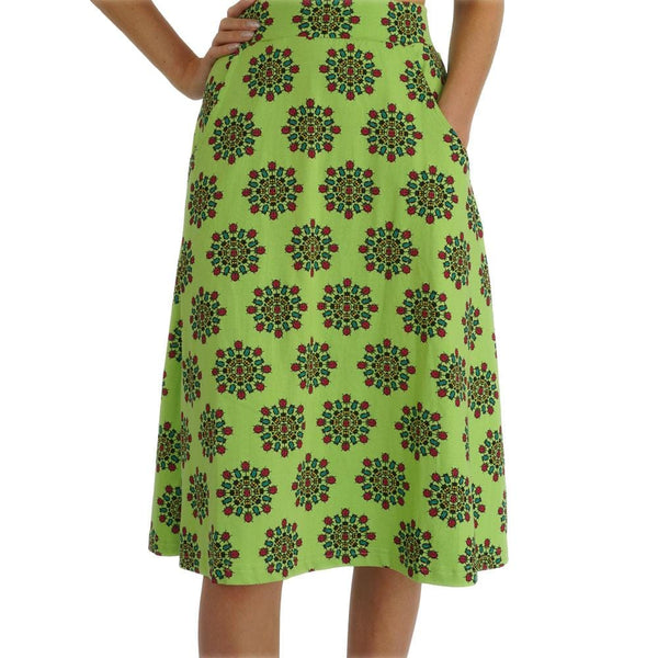 Beetles Mandala A-line Skirt