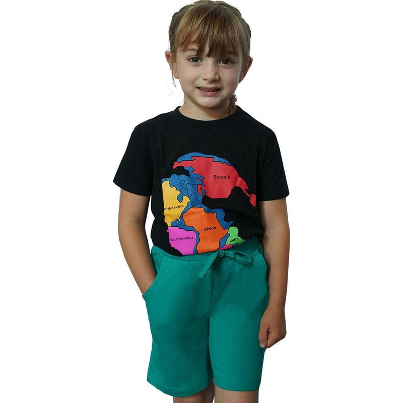 Kids Teal Back to School Knee Shorts with Pockets - Svaha USA