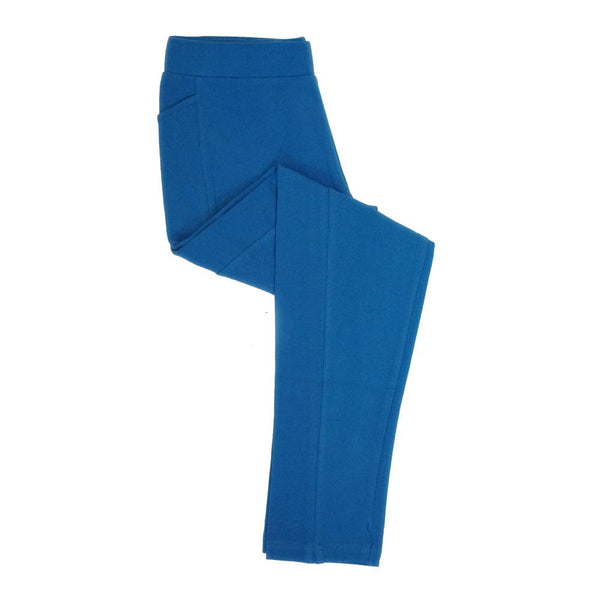 Blue Kids Leggings With Pockets