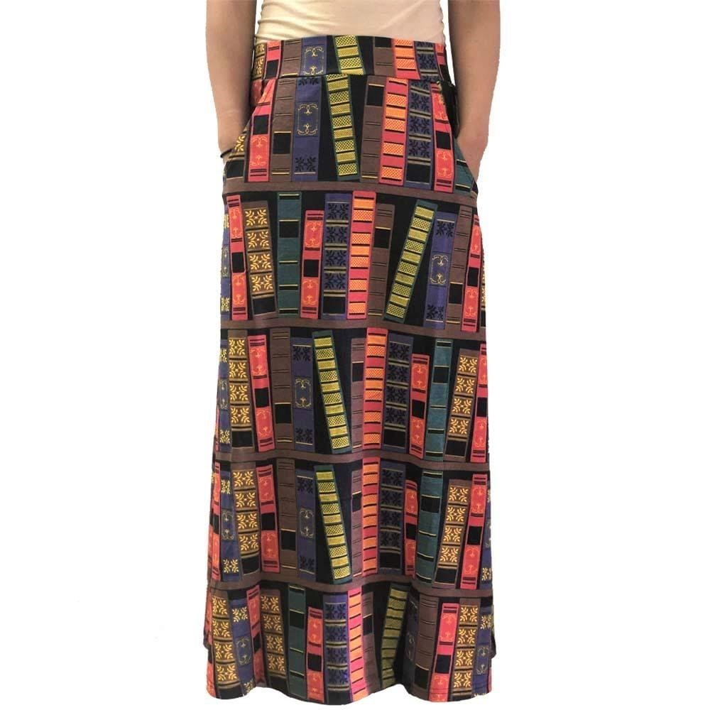 Book Spines Maxi Skirt