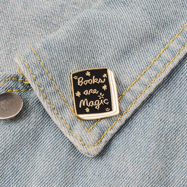 Books Are Magic Hard Lapel Pin