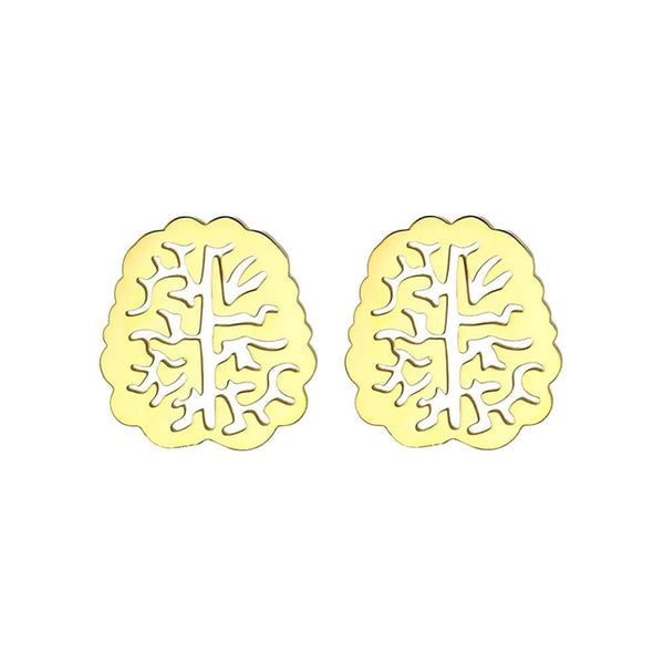 Brain Stainless Steel Earrings