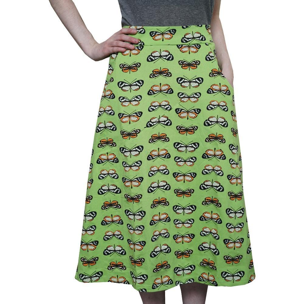 Science Skirt, Summer Skirt, Butterfly Skirt, Butterflies Skirt, Animal Skirt, Insect Skirt, Biology Skirt, STEM Skirt, Entomology Skirt, Entomologist Skirt, Insects Skirt, Butterfly Mimicry Skirt with Pockets - SVAHA USA