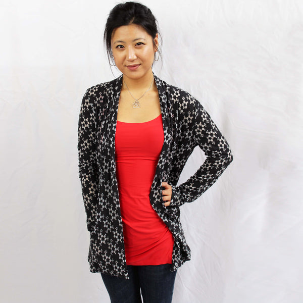 Caffeine Molecule Cardigan, Chemistry Cardigan, STEM Cardigan, Molecular Science Cardigan with Pockets - Svaha USA