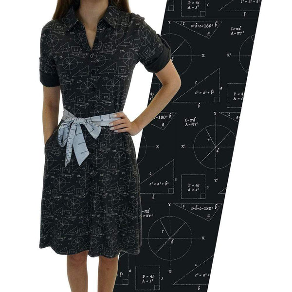 Chalkboard Geometry Sally Dress