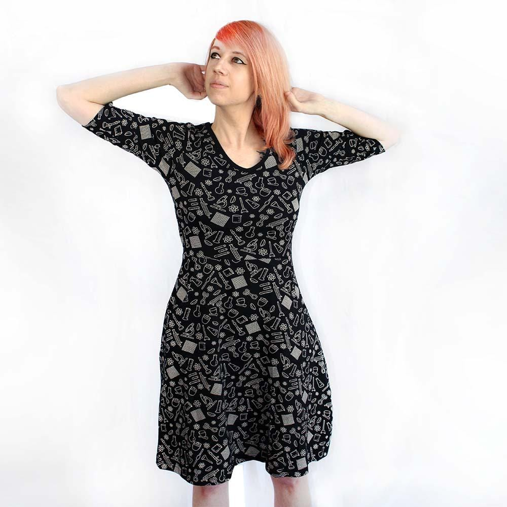 0524d44a847 ... Chemistry Lab Equipments Fit   Flare Dress - Svaha USA STEAM-themed  products for Science ...