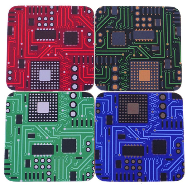 4-Pack Circuit Board Coasters