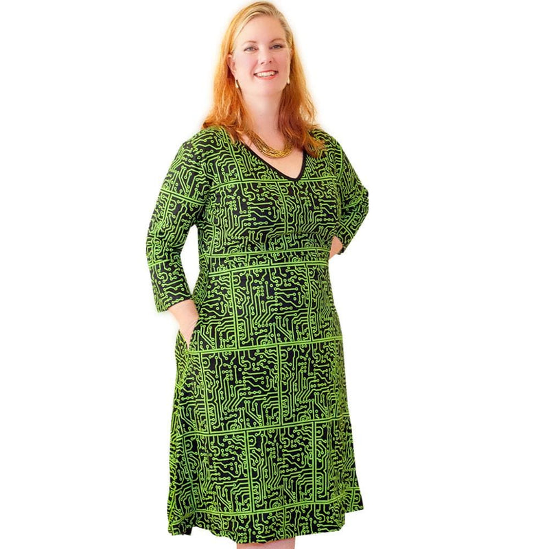 Circuit Board Fit & Flare Dress - Svaha USA