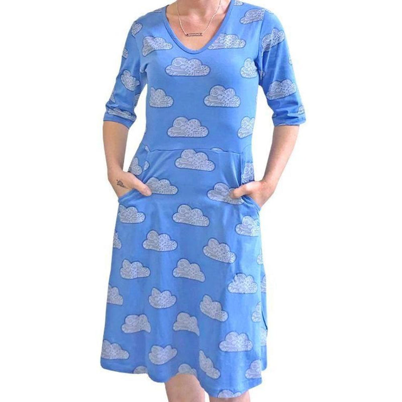 Technology Dress, STEM Dress, Computer Science Dress, Computer Dress, IT Dress, Software Dress, Virtual Online Dress, STEM Dress, Technology Dress, Internet Dress, Data Systems Dress, Network Dress, Cloud Computing Women's Dress with Pockets - Svaha USA