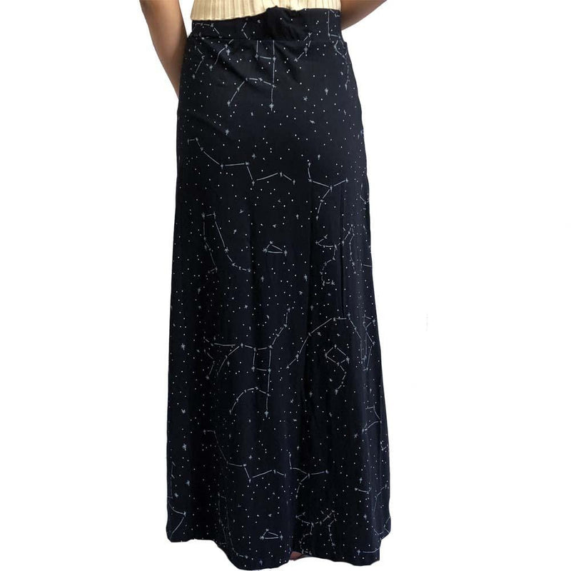 Constellations Skirt, Glow-in-the-Dark Skirt, Stars Skirt, Astronomy Skirt, STEM Skirt, Science, Outerspace Skirt, Space Skirt, Astronomer Skirt, Solar System Skirt, Galaxy Skirt, Star Map Skirt with Pockets BACK - SVAHA USA