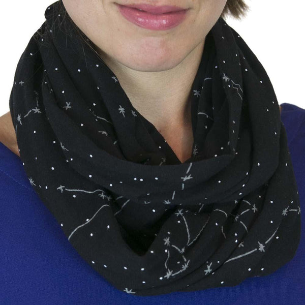 Constellations Glow-in-the-Dark Infinity Scarf - Svaha USA
