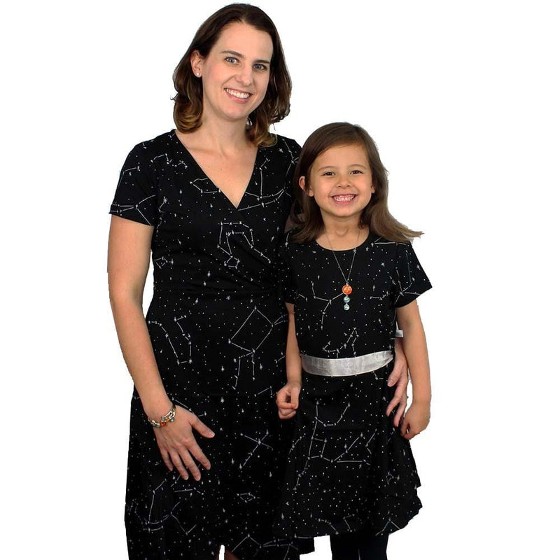 Womens Clothing, Womens Constellations Dress with Pockets, Womens Stars Dress with Pockets, Womens Space Dress with Pockets, Womens Outerspace Dress with Pockets, Womens Astronomy Dress with Pockets, Womens STEM Dress with Pockets, Womens Science Dress with Pockets, Womens Galaxy Dress with Pockets, Womens Solar System Dress with Pockets - Svaha USA