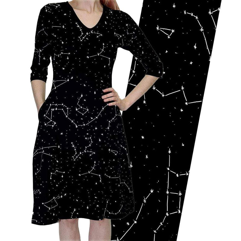 Constellations Glow-in-the-dark 3/4th Sleeve Katherine Dress