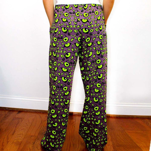 Nocturnal Animal Eyes Adult Lounge Pants - Svaha Apparel