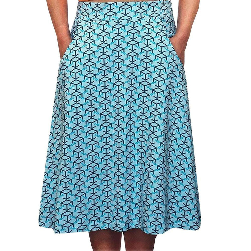 Blockchain Cryptocurrency A-Line Skirt [FINAL SALE]