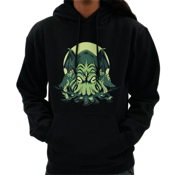 Cthulhu Ascends Adults Pullover Hoodie