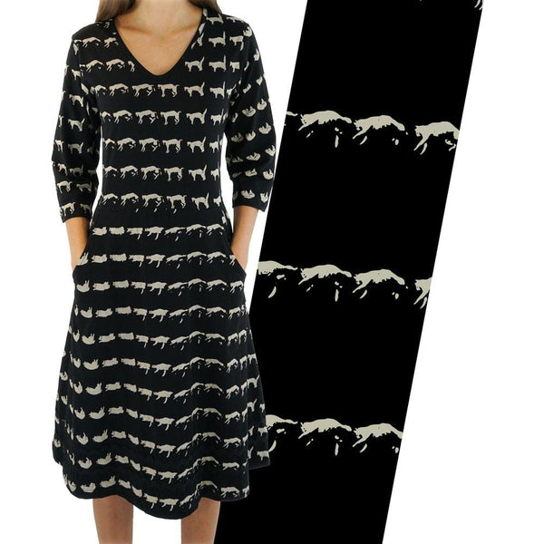 Feline Freefall & Flip! Rosalind Dress