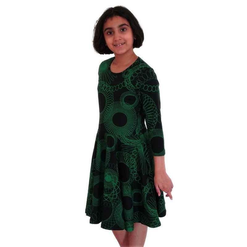 Spirograph Kids Twirl Dress
