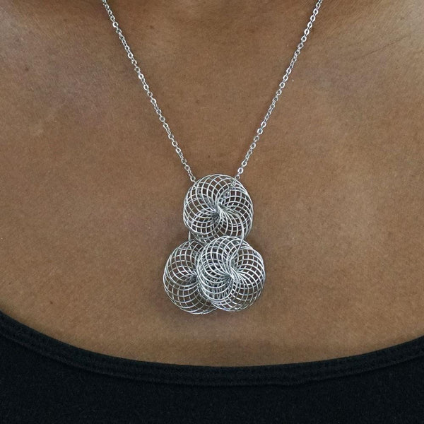 Spirograph Stainless Steel Necklace