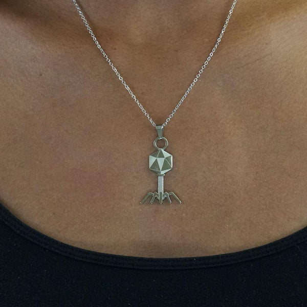 Bacteriophage Stainless Steel Necklace