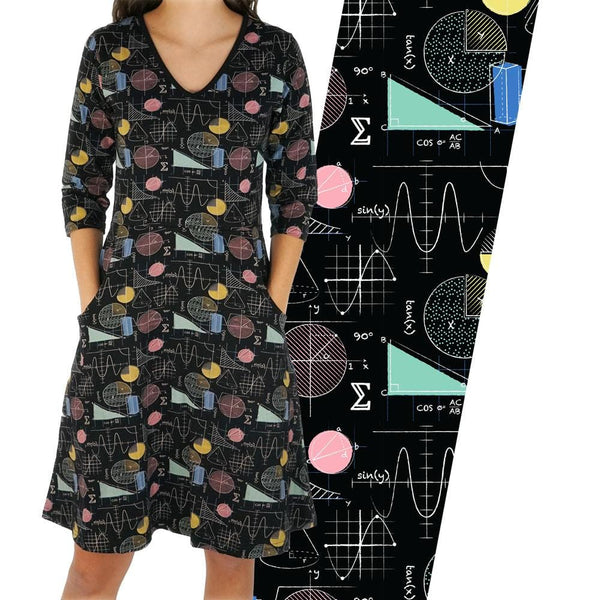 Colorful Trigonometry Rosalind Dress