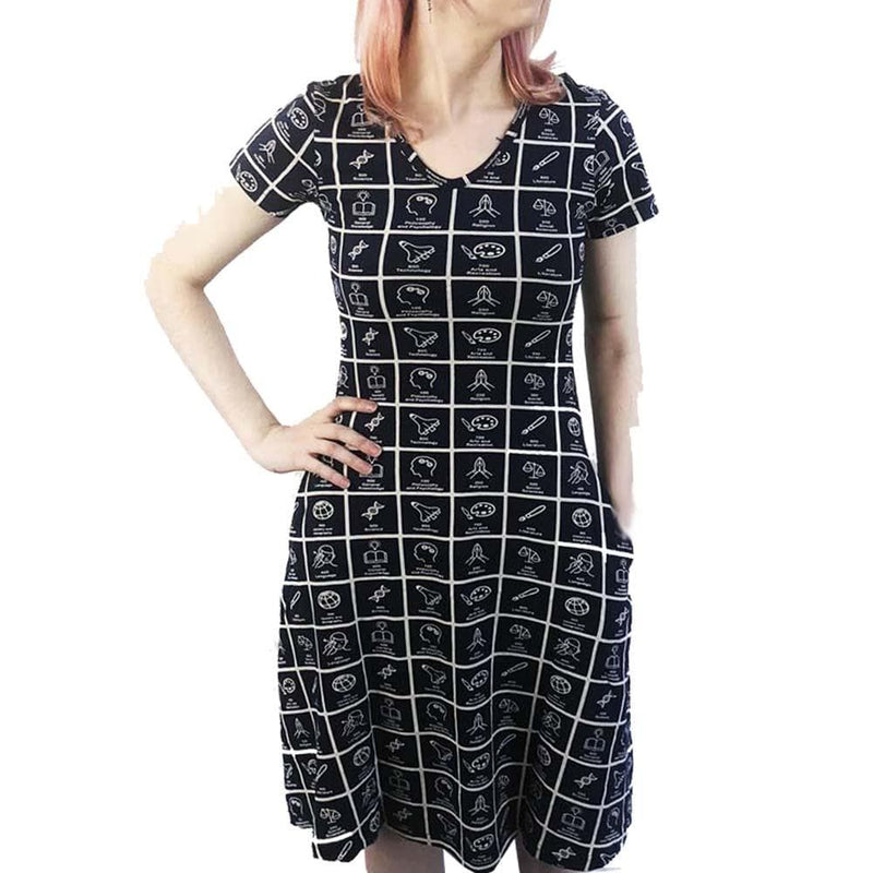 Dewey Decimal Classification® Adult Fit & Flare Dress [SHORT SLEEVE]