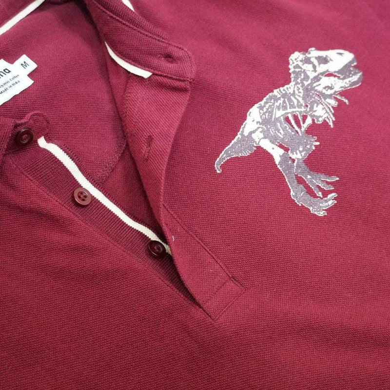 Augmented Reality: Dinosaur Fossil Unisex Adults Polo [FINAL SALE]
