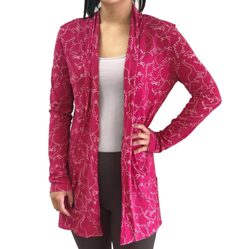 Dinosaur Cardigan, Dinosaurs Cardigan, Science Cardigan, Paleontology Cardigan, Paleontologist Cardigan, T. Rex Cardigan, Cretaceous Cardigan, Extinction Cardigan, Evolution Cardigan, Dinosauria Cardigan, Reptile Cardigan, Jurassic Print Cardigan with Pockets - SVAHA USA
