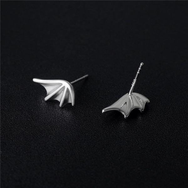 Dragon Wings Sterling Silver Earrings