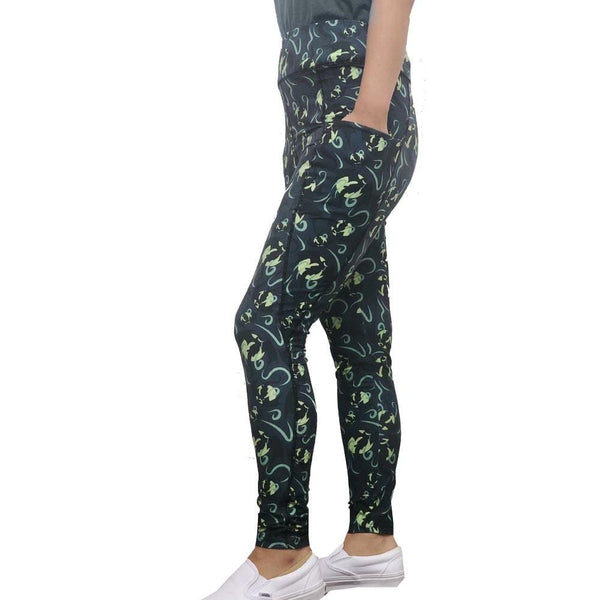 Mythical Leggings, Mythology Leggings, Serpent Leggings, Dragon Leggings, Dragons Leggings, Fantasy Leggings, Mythical Leggings, Mythology Leggings, Flying Dragons Legging with Pockets - SVAHA USA