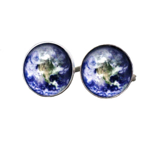 Geeky Cufflinks, Nerdy Cufflinks, Geeky Jewelry, Nerdy Jewelry, Science Cufflinks, World Cufflinks, Earth Cufflinks, Environment Cufflinks, World Science Cufflinks, Solar System Cufflinks, Planet Cufflinks, STEM Cufflinks, Earth Science Cufflinks, Science Cufflinks - SVAHA USA