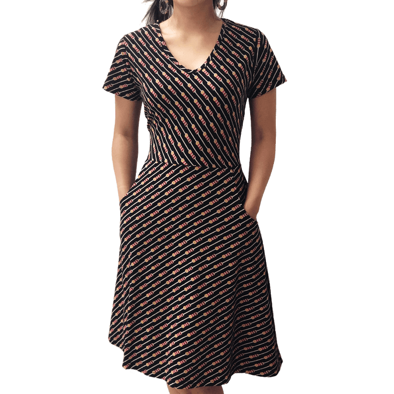 Womens Clothing, Womens Engineering Dress with Pockets, Womens Electrical Dress with Pockets, Womens Electronics Dress with Pockets, Womens Resistors Dress with Pockets, Womens Circuit Dress, Womens Circuits Dress with Pockets, Womens STEM Dress, Womens Electricity Dress with Pockets, Resistors Dress with Pockets - SVAHA USA