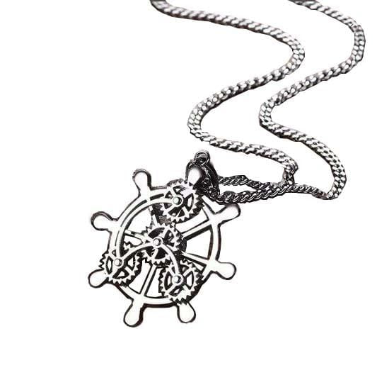 Geared Wheel Necklace