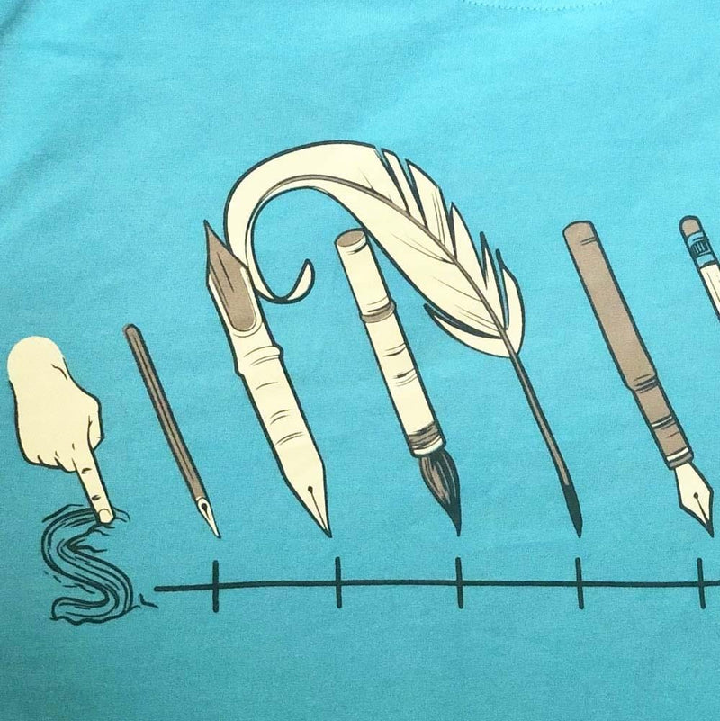 Evolution of Writing Instruments Kids T-Shirt [FINAL SALE]