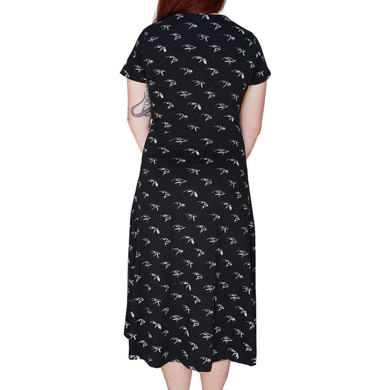 Darwin's Finches Faux Wrap Grace Dress