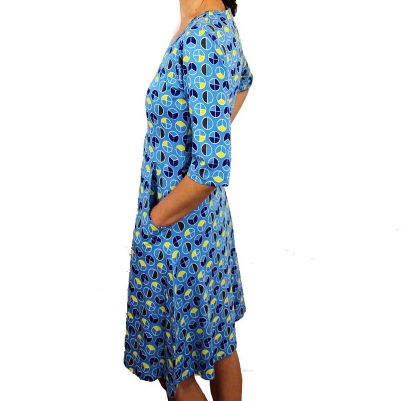 Fractions Print Fit & Flare Dress [FINAL SALE]