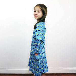 Math Dress, Mathematics Dress, Fractions Dress, STEM Dress, Geometry Dress, Geometric Dress, Elementary Math Dress, Shapes and Equations Dress, Arithmetic Kid's Dress with Pockets - SVAHA USA