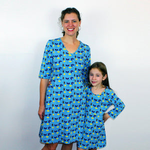 Math Dress, Mathematics Dress, Fractions Dress, STEM Dress, Geometry Dress, Geometric Dress, Elementary Math Dress, Shapes and Equations Dress, Fractions Print Dress Collection with Pockets - SVAHA USA