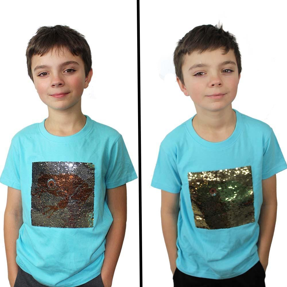 Tree Frog Reversible Sequin Kids T-Shirt