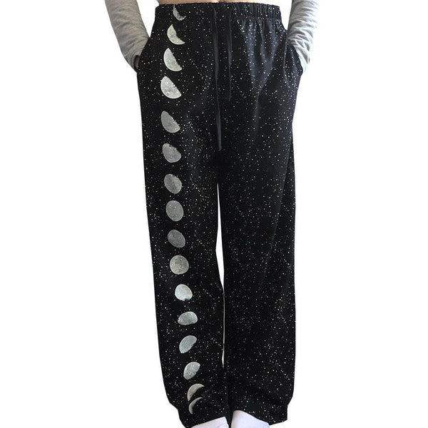 Solar System Pajama Pants, Moon Pajama Pants, Space Pajama Pants, Outerspace Pajama Pants, STEM Pajama Pants, Solar System Pajama Pants, Sky Pajama Pants, Glow-in-the-Dark Pajama Pants, Moon Phase Glow-in-the-Dark Pajama Pants with Pockets - SVAHA USA