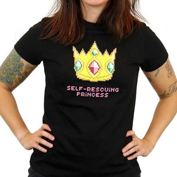Gaming Women's Shirt, Gamer Women's Shirt, Nintendo Women's Shirt, Technology Women's Shirt, STEM Women's Shirt, Computer Architecture Women's Shirt, Self-Rescuing Princess Women's Shirt - SVAHA USA
