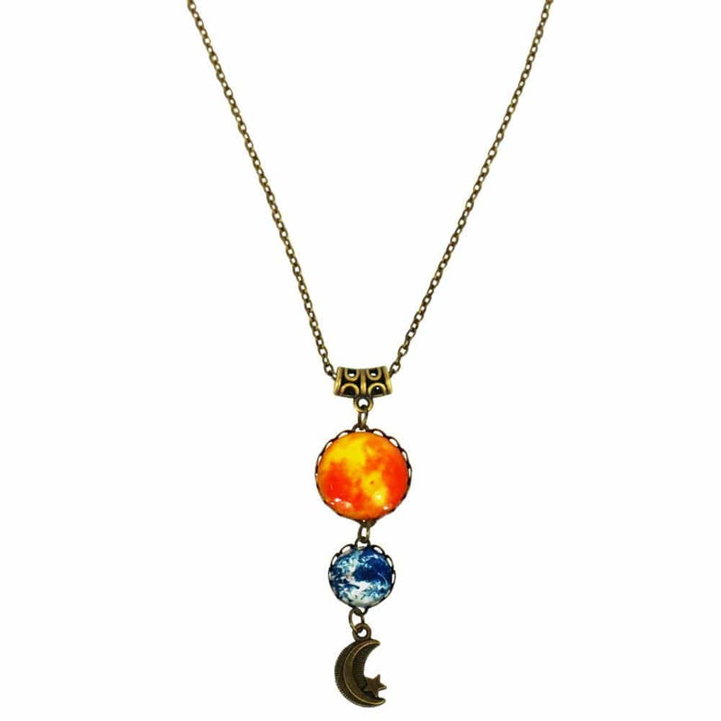 Sun, Earth, & Moon Necklace [FINAL SALE]